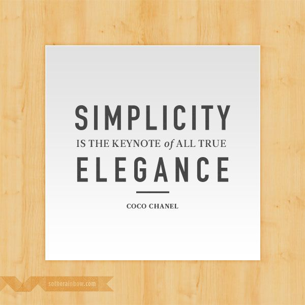 Simplicity And Elegance Quotes Quotezon Simple Quotes