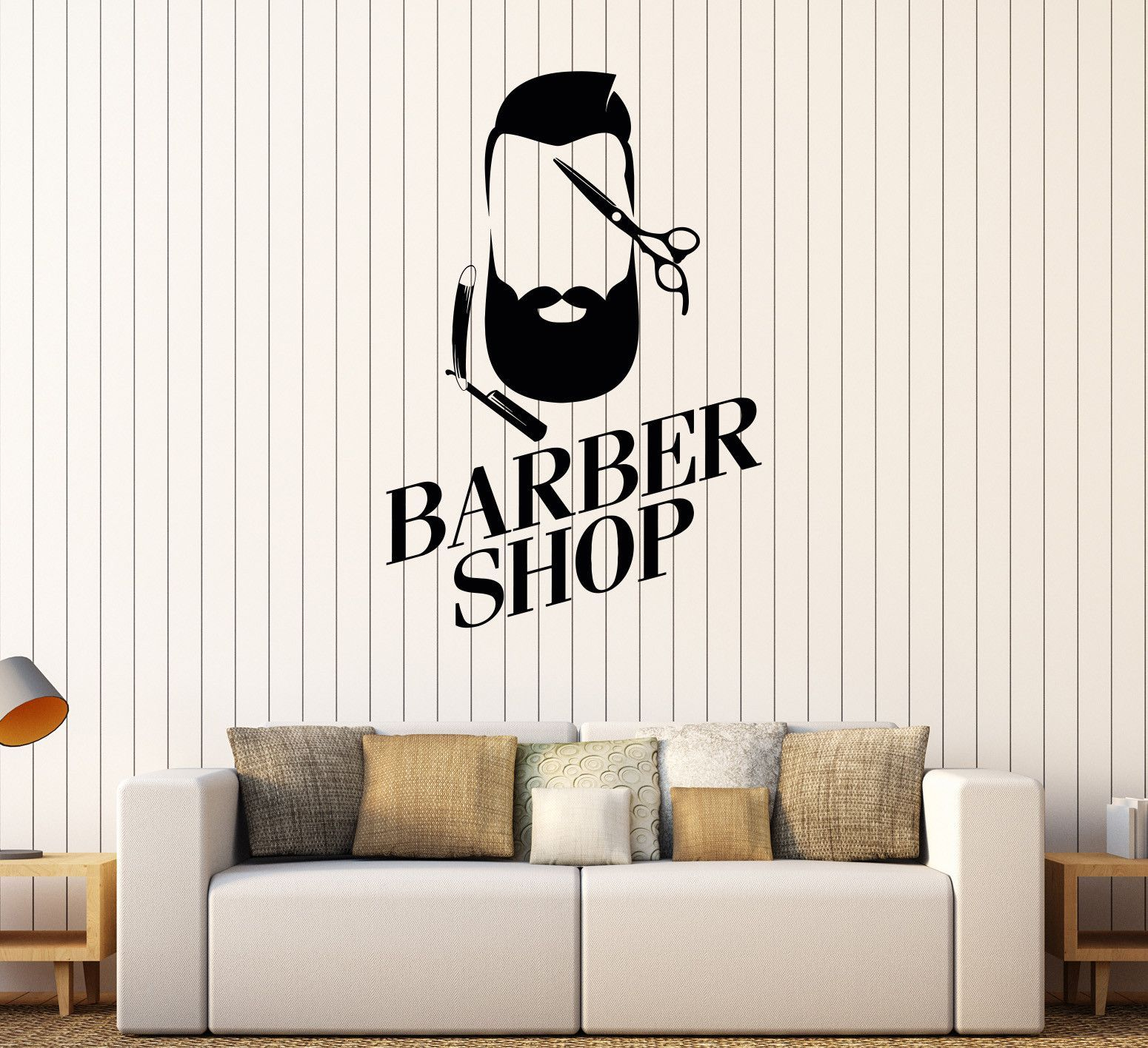 vinyl wall decal barber shop man hairdresser hair salon stylist vinyl wall decal barber shop man hairdresser hair salon stylist stickers 463ig