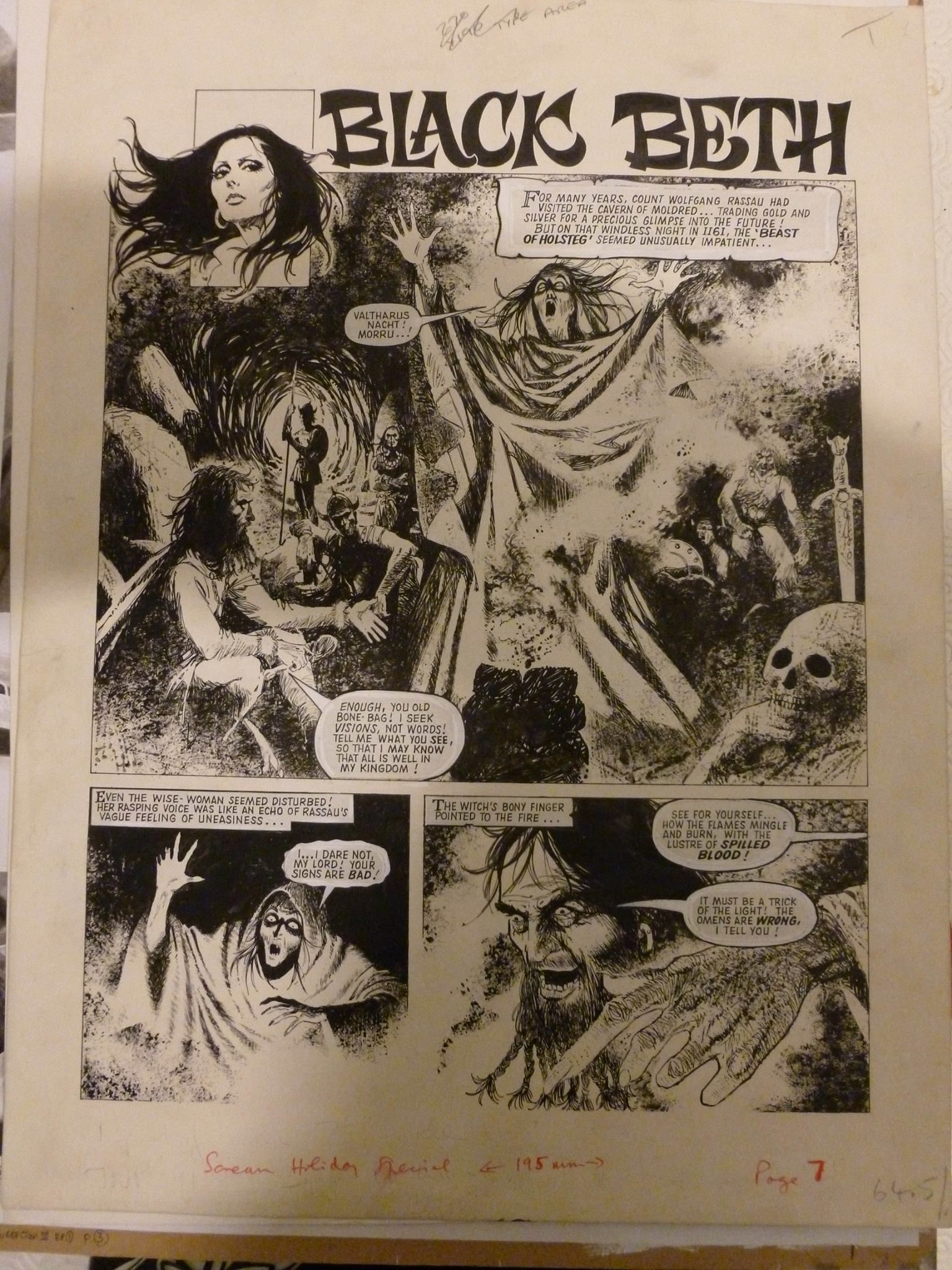 Blas Gallego Artwork On This Strip That Was Printed In