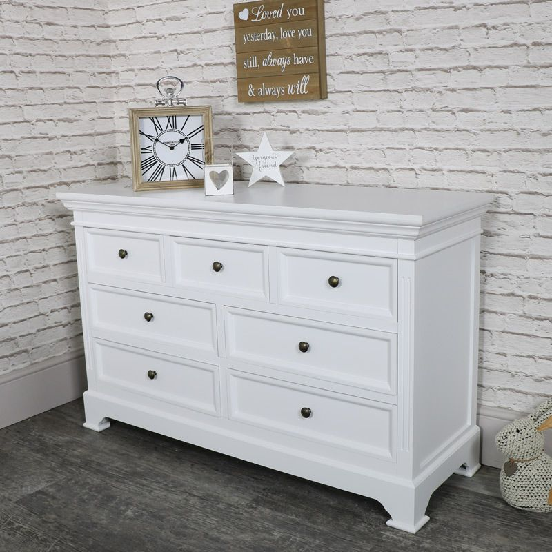 Large white 7 drawer chest of drawers in 2020 white