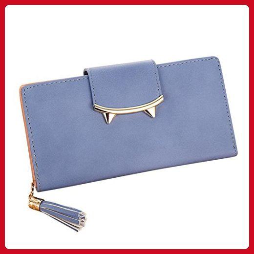 Hunputa Fashion Women Tassel Solid Color Coin Purse Long Wallet Card Holders Handbag (Blue) - Shoulder bags (*Amazon Partner-Link)