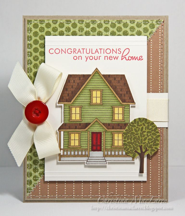 Дом на открытке