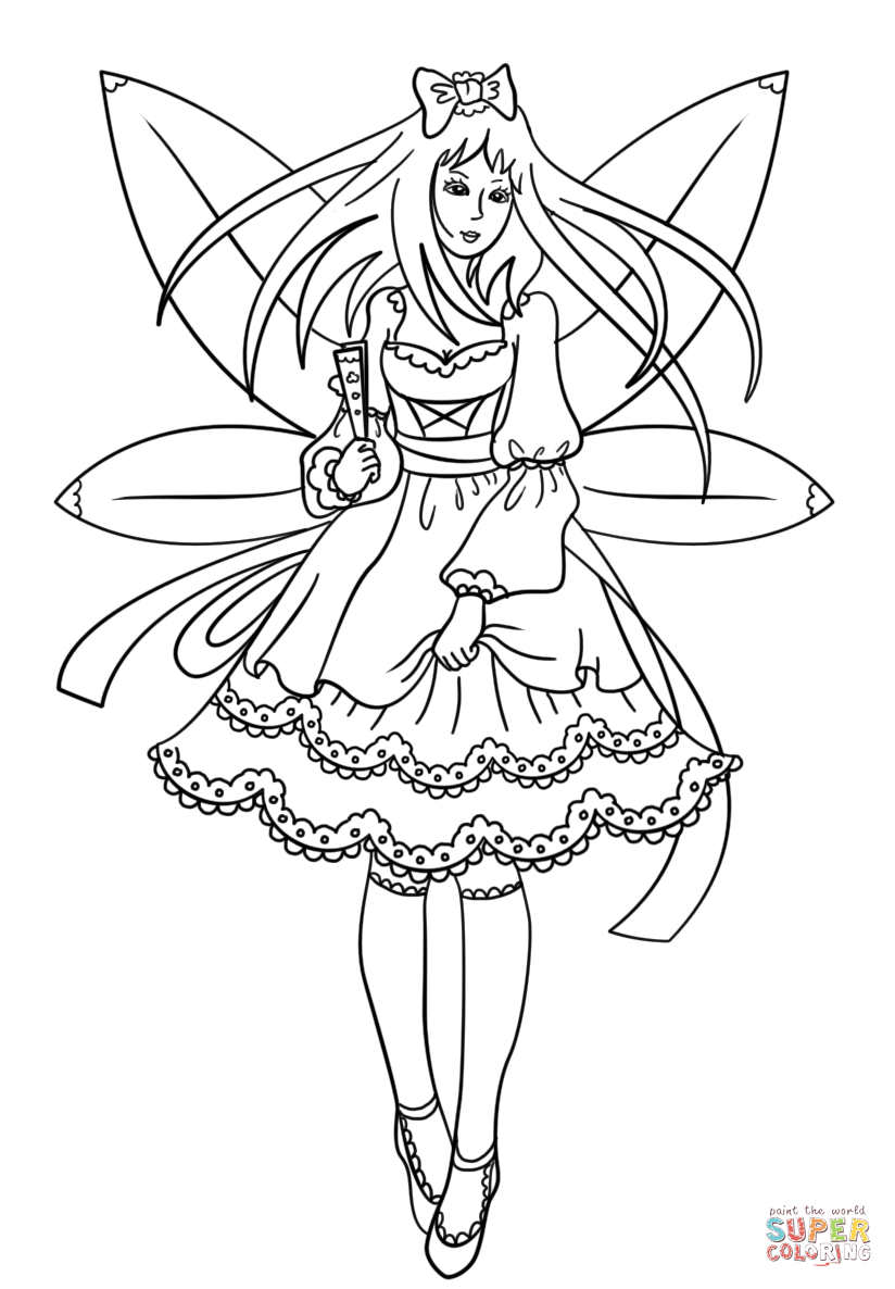 Coloring Pages Gothic Gothic Fairy Coloring Page Fairy Coloring Pages Fairy Coloring Princess Coloring Pages [ 1186 x 824 Pixel ]