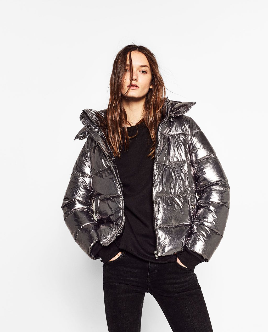 59401e9b SHORT METALLIC JACKET-View all-OUTERWEAR-TRF | ZARA United Kingdom ...