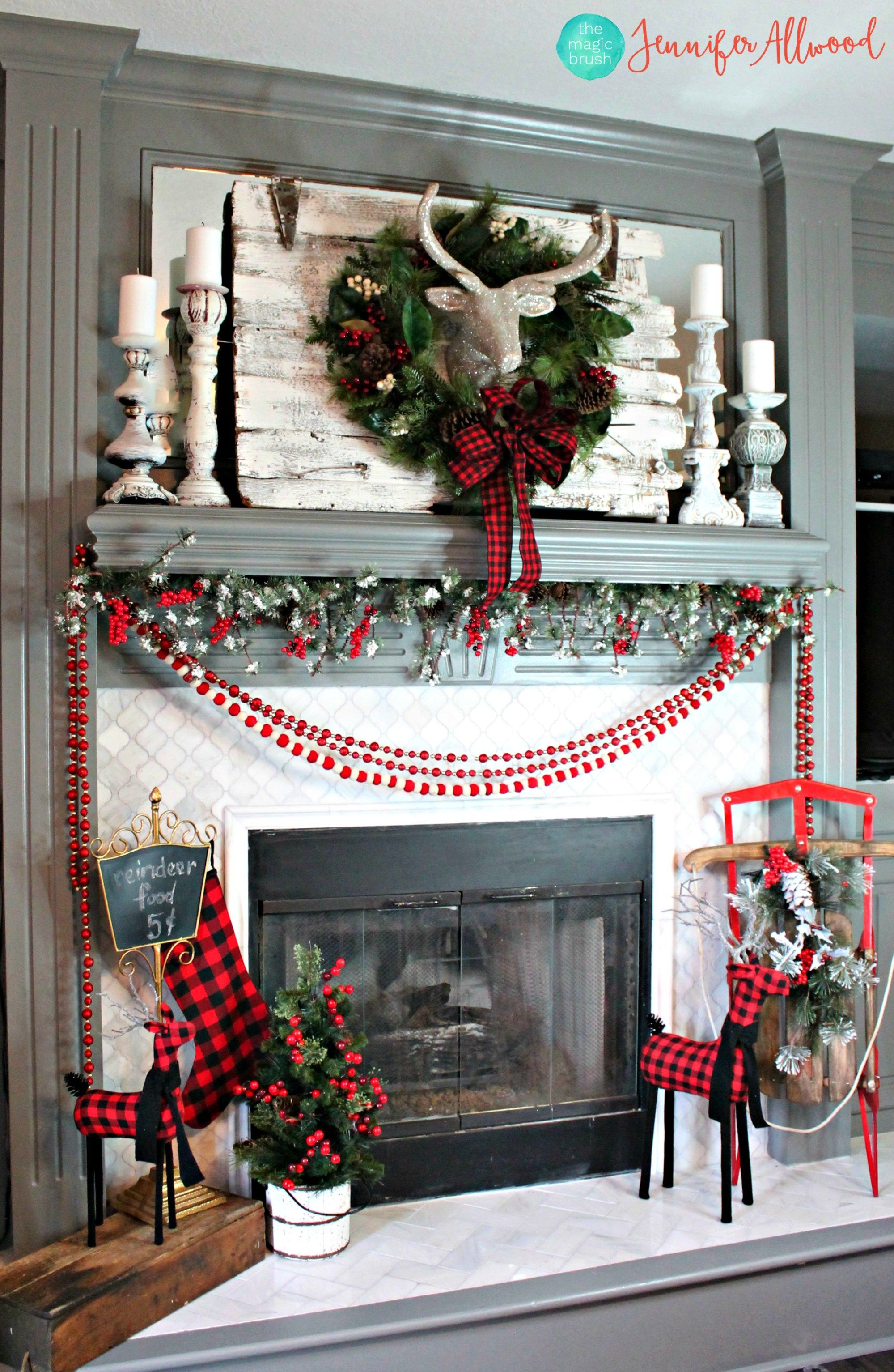 Christmas Mantel Decor - Magic Brush