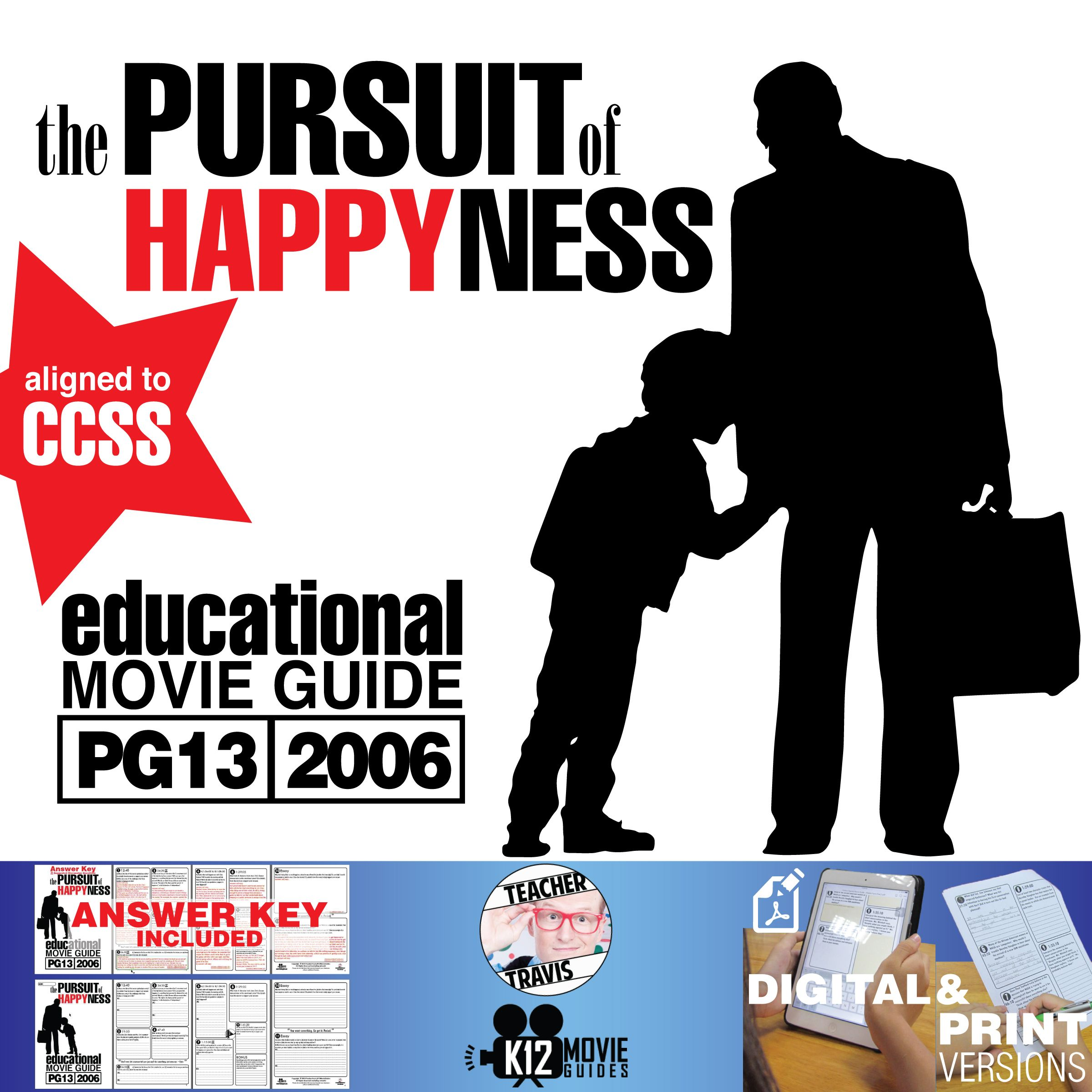 The Pursuit Of Happyness Movie Guide Questions Worksheet Pg13 2006 Movie Guide The Pursuit Of Happyness This Or That Questions