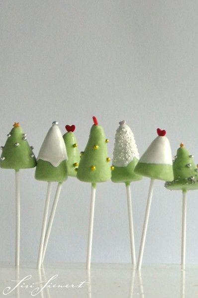 cakepops christmastrees cake bites and pops kuchen ostern kuchen cake pops weihnachten. Black Bedroom Furniture Sets. Home Design Ideas