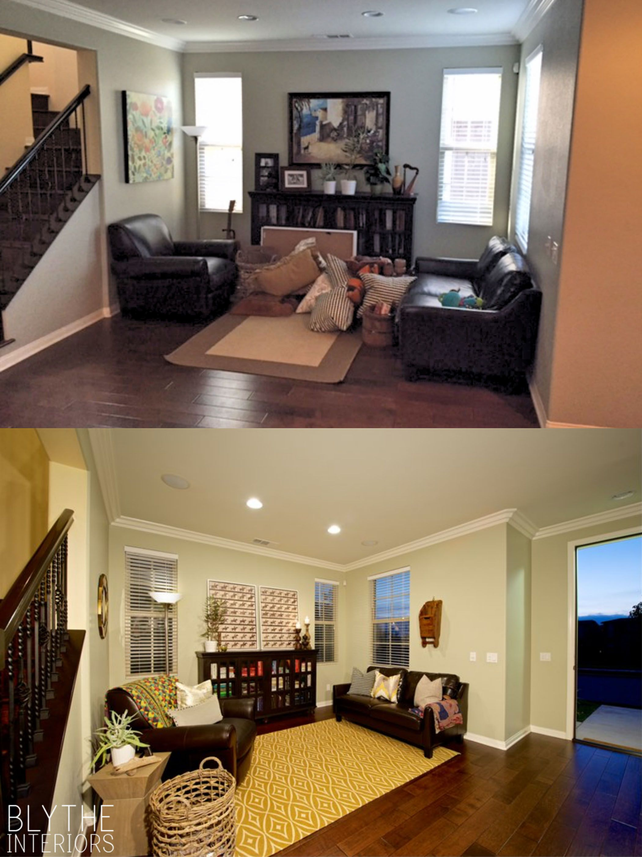This living room had all the main components in place, and ...