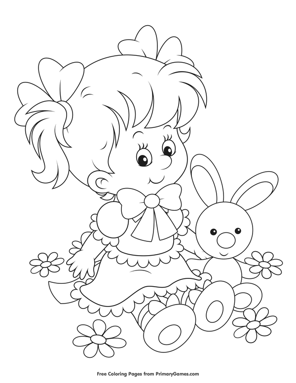 Easter Sheet Free Printable Coloring Pages For Girls And Boys | 776x600