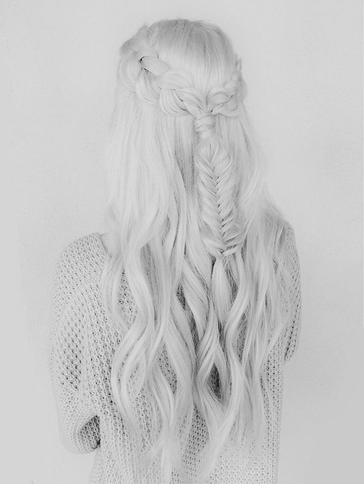 White Hair Aesthetic : white, aesthetic, Color, White, Hair,
