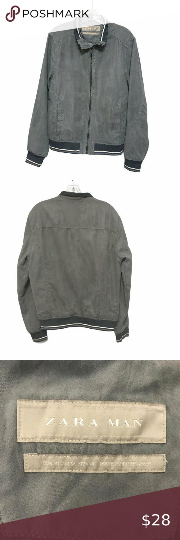 Zara Man Faux Suede Bomber Jacket Brown Leather Bomber Jacket Zara Bomber Jacket Suede Bomber Jacket