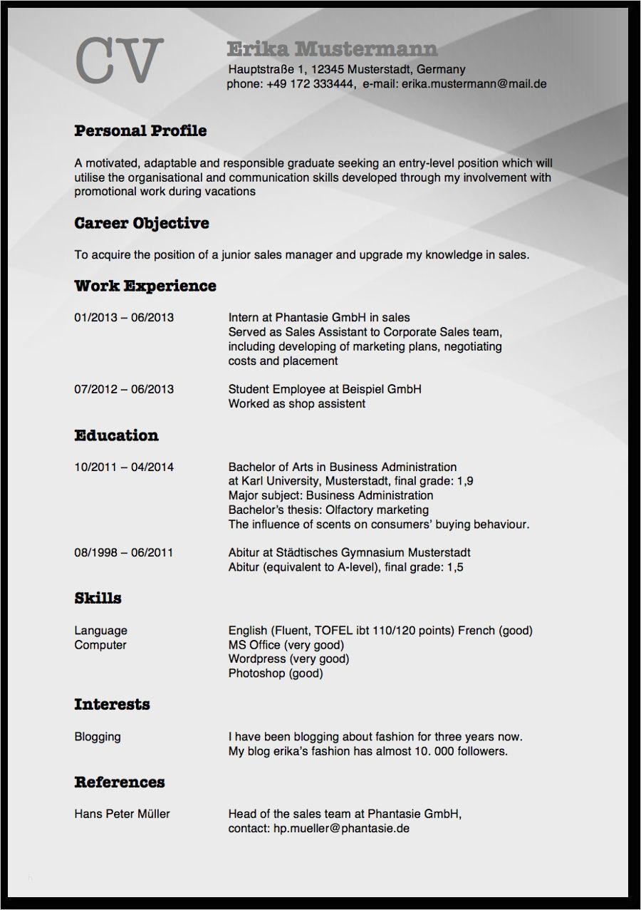 27 Einzigartig Cv In English Vorlage Diese Konnen Einstellen In Ms Word Cv English Organizational Communication Curriculum Vitae