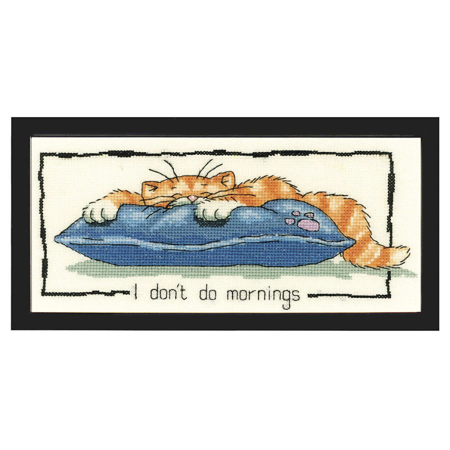 I Don't Do Mornings - Cross Stitch, Needlepoint, Embroidery Kits – Tools and Supplies