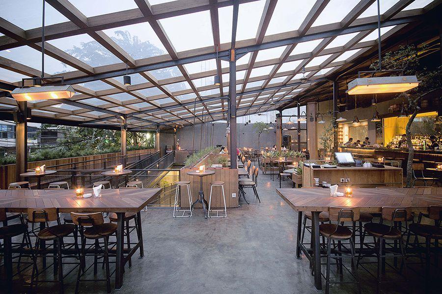 Industrial Dining Area Beer Garden Jakarta Selatan