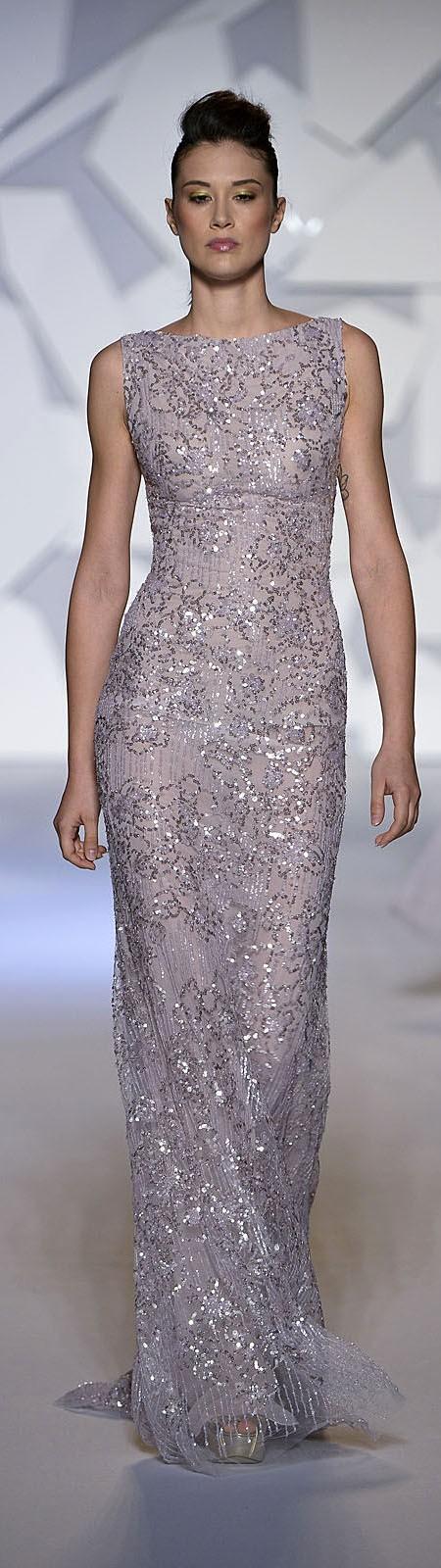 sleeveless full length shimmer gown