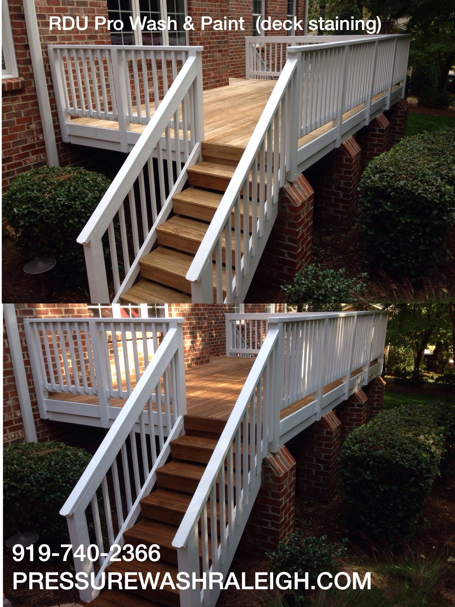 Best Deck Staining Done By Rdu Pro Wash Paint Near Brier Creek In Raleigh Nc Deck Outdoor Decor 400 x 300