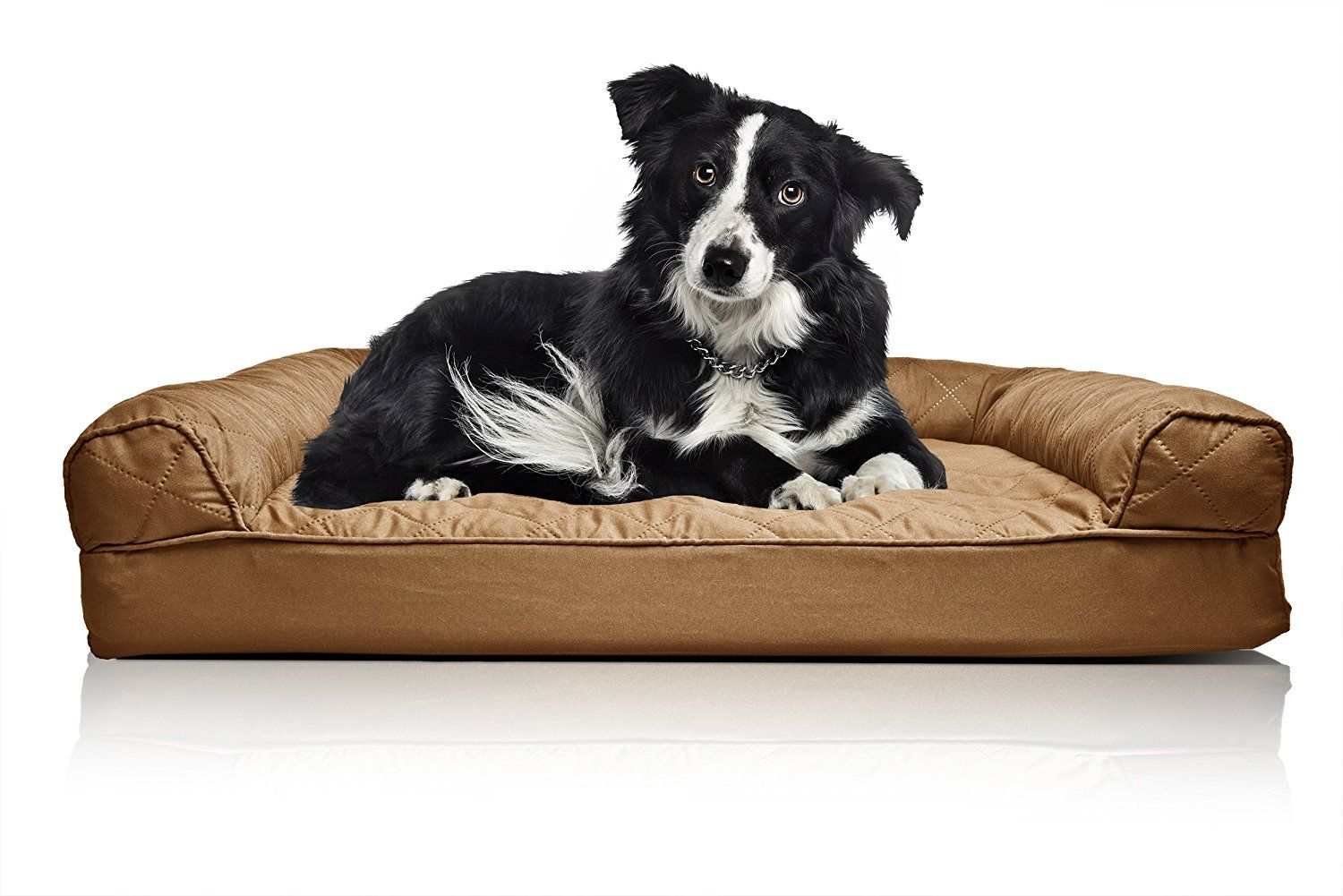 FurHaven Large Quilted Orthopedic Sofa Pet