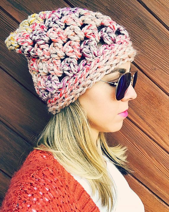 "Crochet Pattern The ""Boho Slouch""Beanie Pattern. ****** This listing ..."