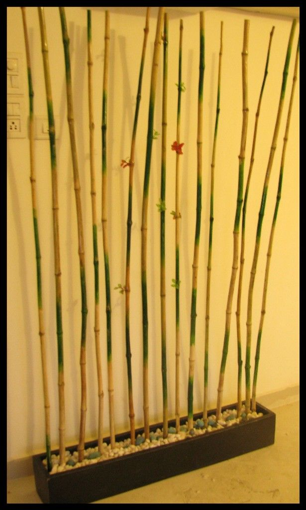 Bamboo divider for room. I shall make mine this way. I know exactly ...