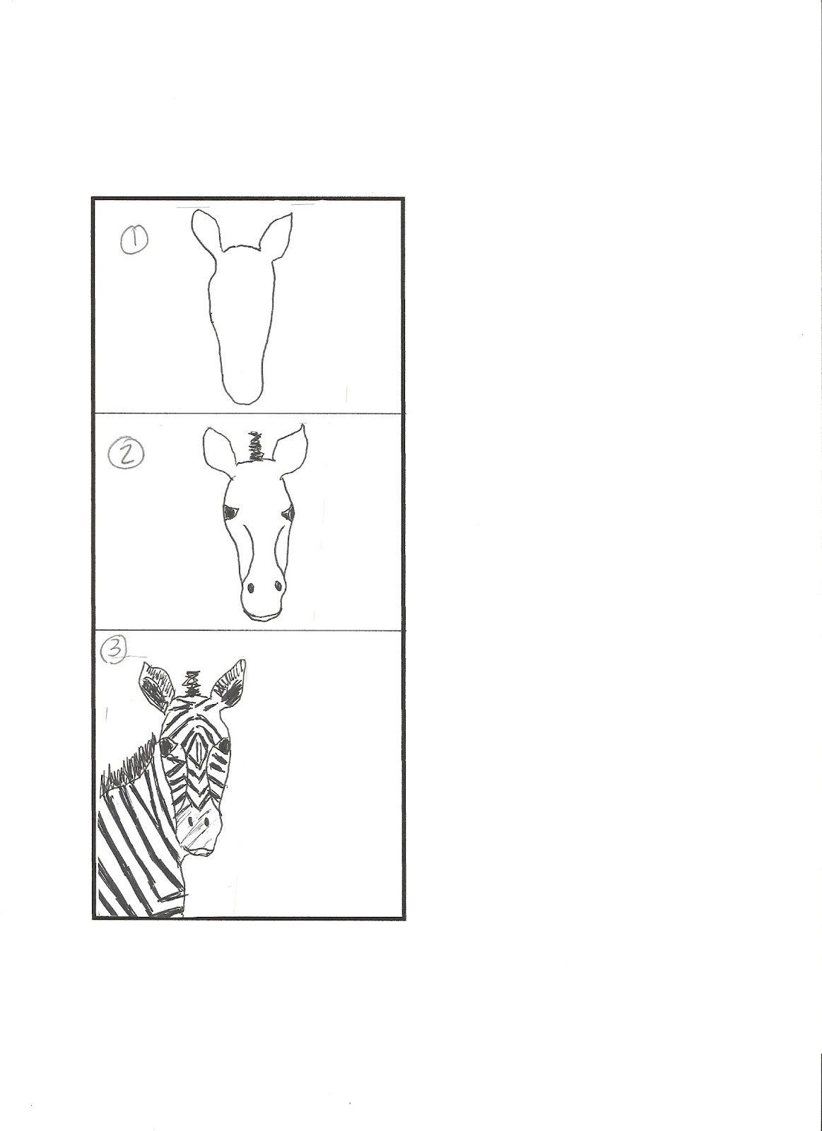 Art Class Works Lions Zebras Giraffes And Elephants