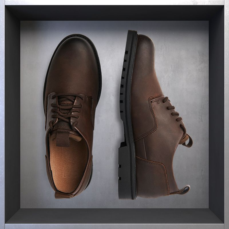 ce2119ab01a La Milano Mens Wide Width Cap Toe Leather Lace-up Oxford Comfortable Formal  Extra Wide Dress Shoes EEE