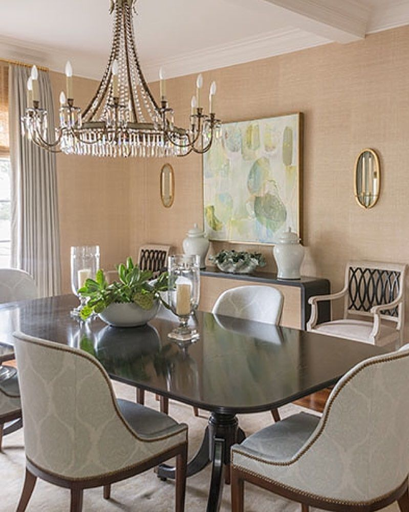 A dining room in Delray Beach using one of my favorite chandeliers