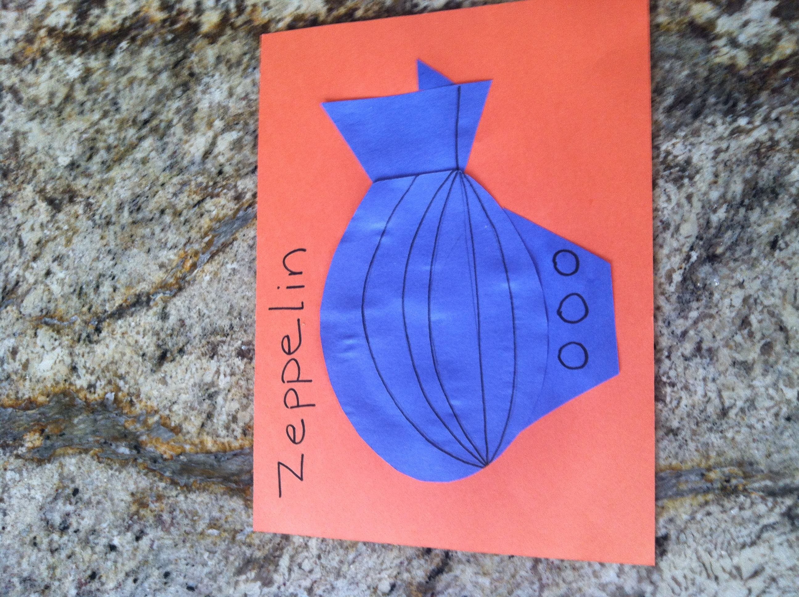 Z Is For Zeppelin Letter Z Craft