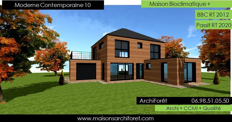 Maison r 1 moderne recherche google construction - Maison rustique bois architecte stillwater ...