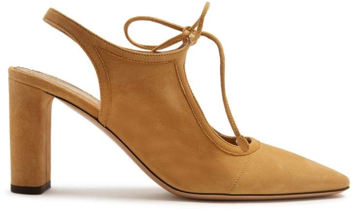 045a835c16a THE ROW Camil suede slingback pumps The Row s camel-brown suede Camil pumps  are a