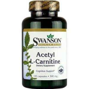 Swanson Acetyl L-Carnitine (500mg, 100 Capsules)