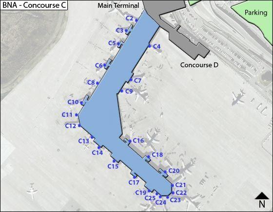 nashville airport terminal map Bna Nashville Airport Terminal Maps Airports Terminal nashville airport terminal map