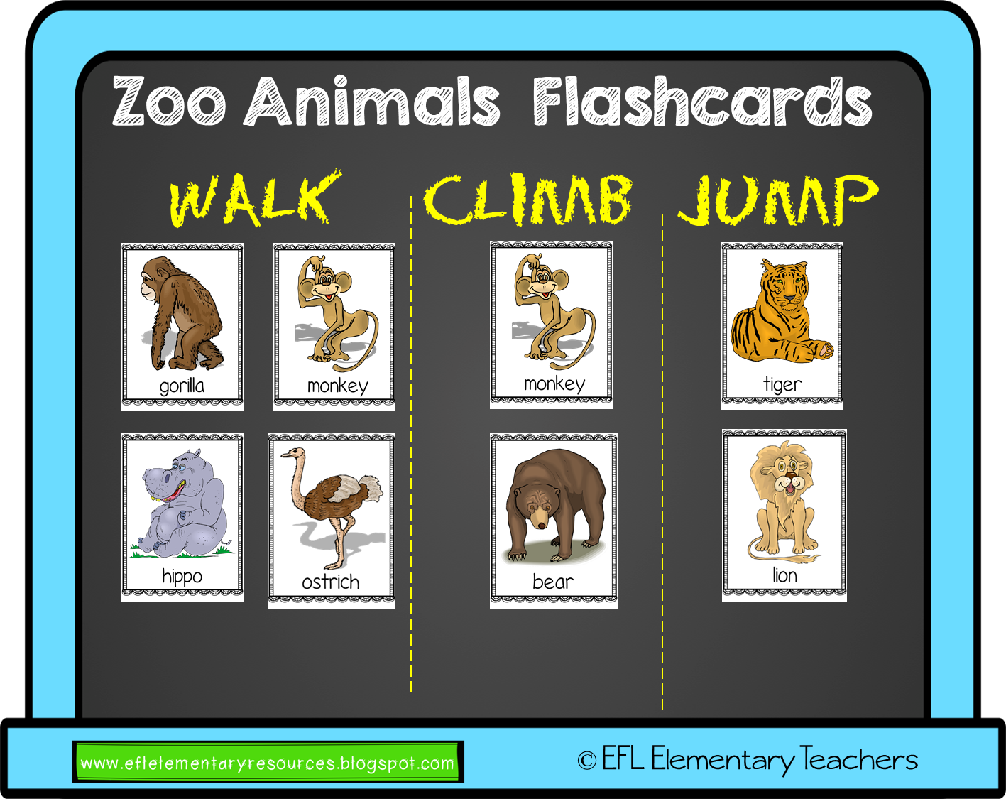 Zoo Animal Move Resources For Elementary Esl
