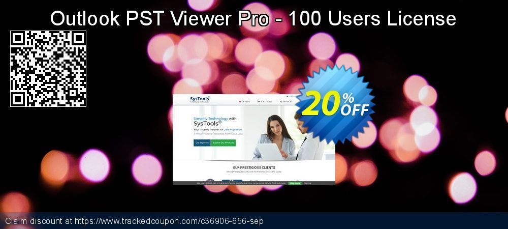 20 Off Systools Outlook Pst Viewer Pro 100 Users Coupon On