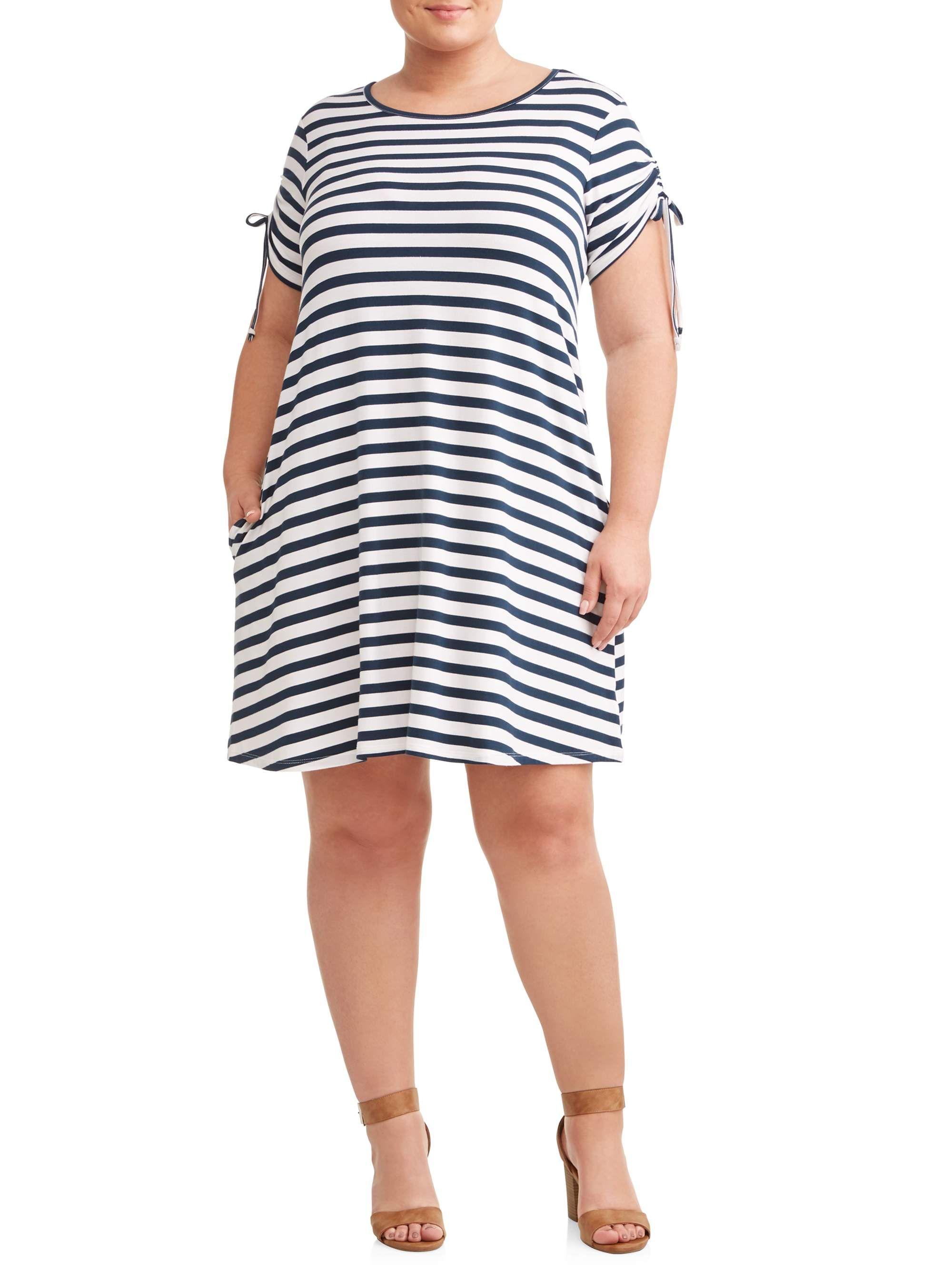Cottonlinen Striped Casual Dress Striped Casual Dresses Casual Cotton Dress Knee Length Dress [ 1200 x 800 Pixel ]