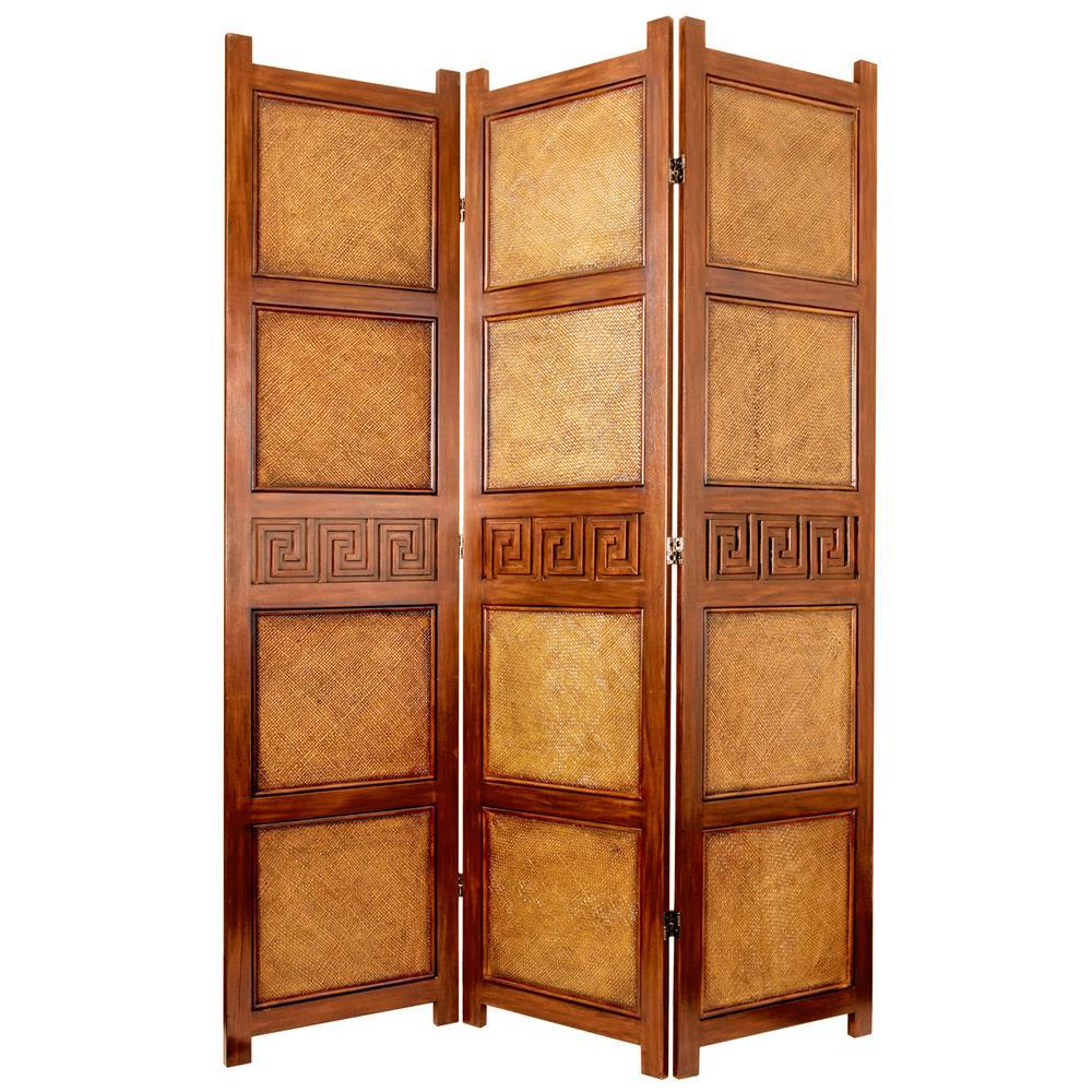 Oriental Furniture 6 Ft Brown 3 Panel Peiking Room Divider Oriental Furniture Panel Room Divider Portable Room Dividers