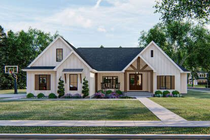 Modern Farmhouse Plan: 2,232 Square Feet, 4 Bedrooms, Bathrooms - 4534-00045