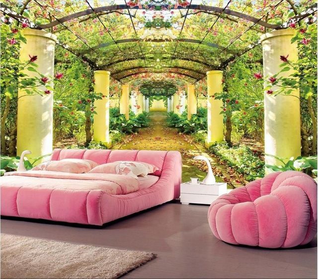 Custom Photo Wallpaper 3d Stereoscopic 3d Beautiful Garden Of Eden
