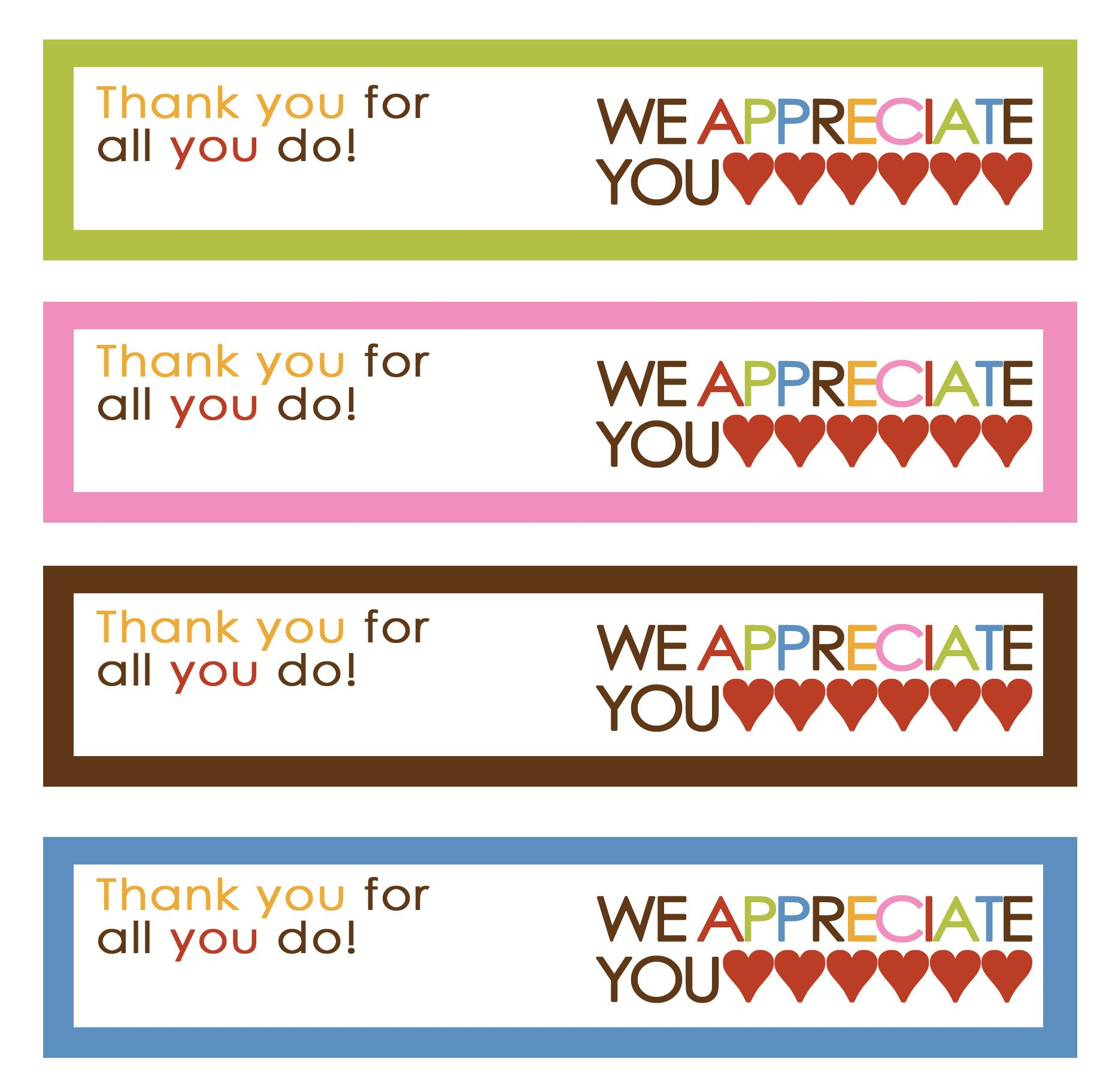 Ice Cream Thank You Printable With Images
