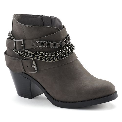 b5380b5b53f0 SO® Women s Western Heeled Ankle Boots in 2019