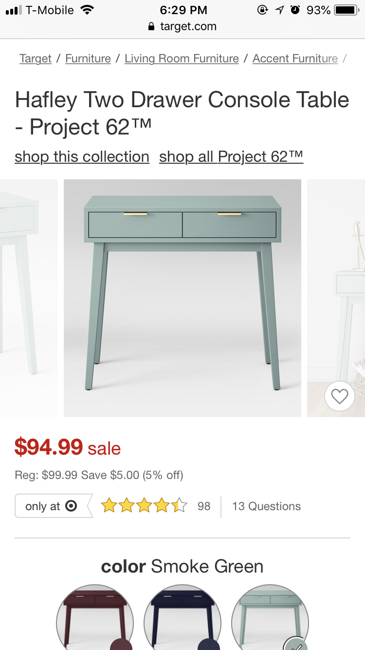 Hafley Two Drawer Console Table Project 62 Console Table Target Furniture Storage Spaces