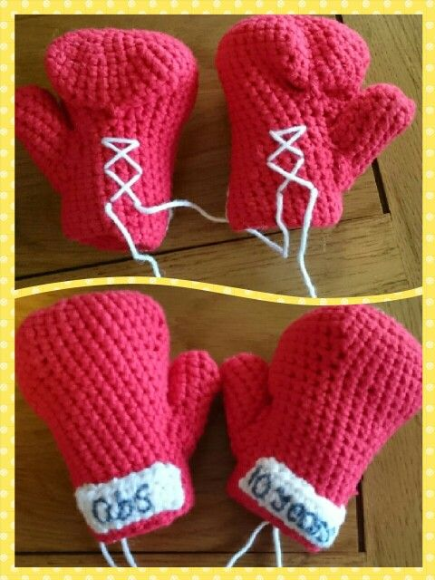 Mini Boxing Gloves Thanks To The Pattern From Httpsetsy