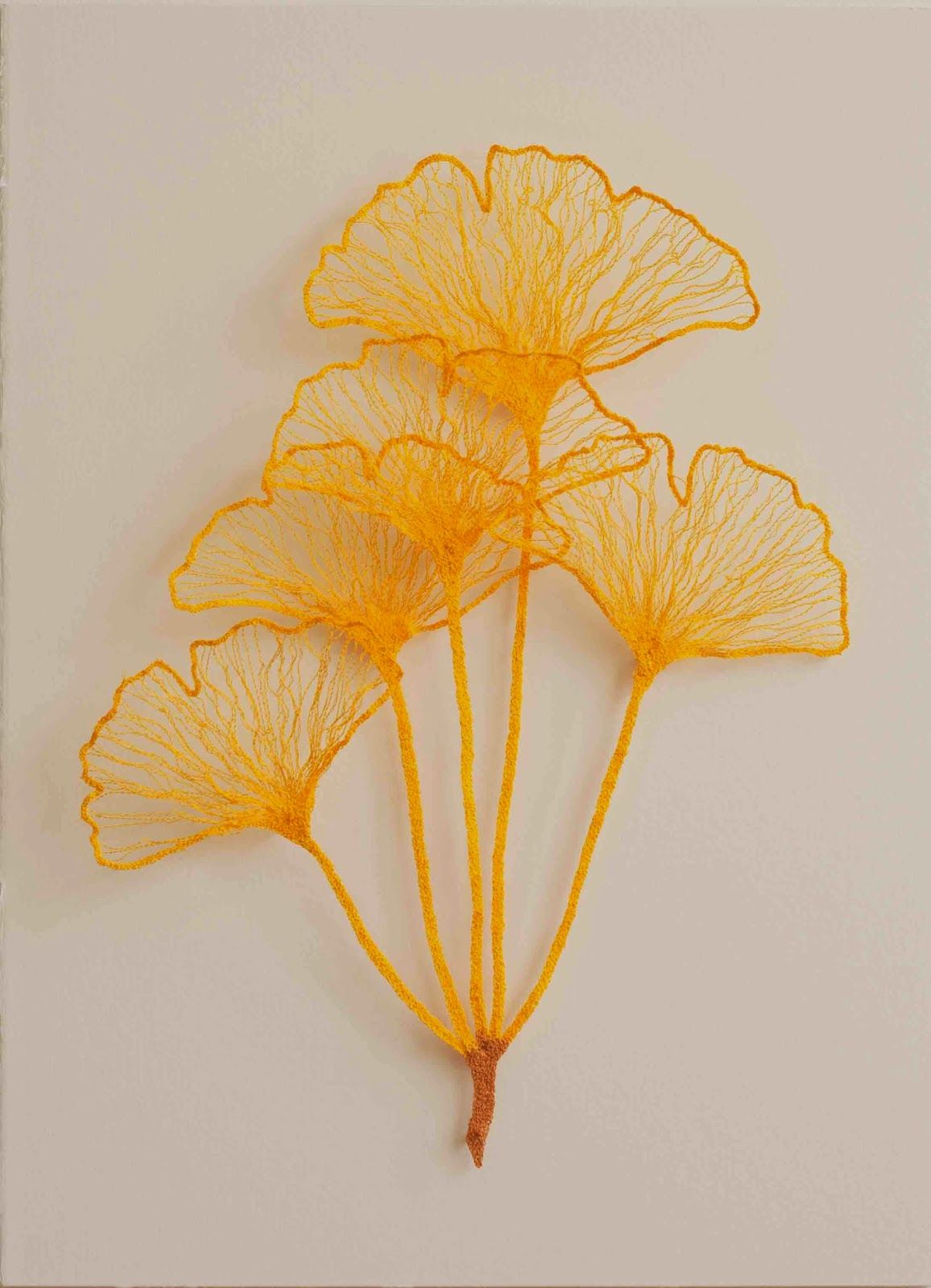 The Artwork of Meredith Woolnough: Little Ginkgo studies (crochet inspiration )