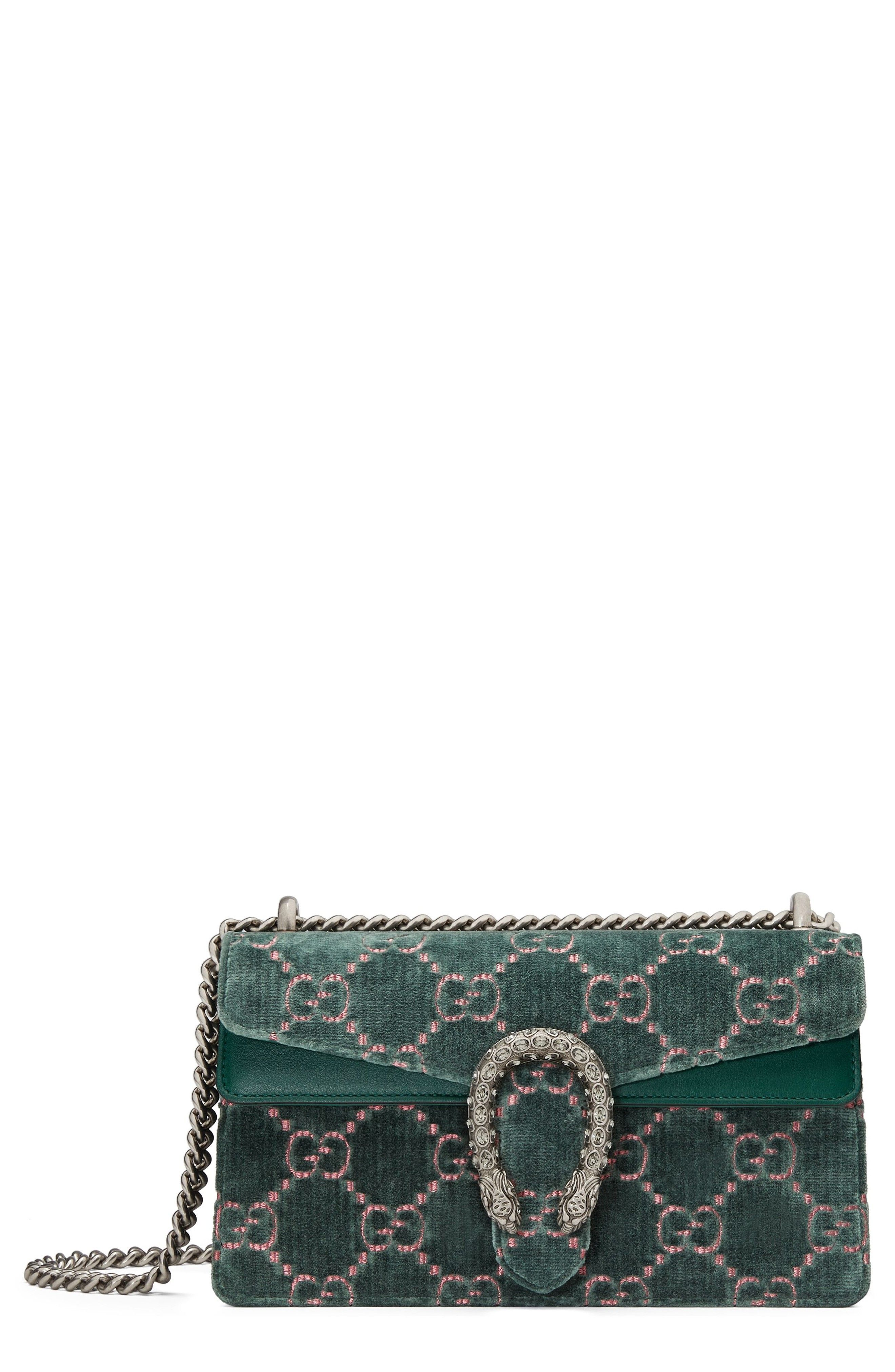 59ac7df23855f3 GUCCI SMALL DIONYSUS GG VELVET SHOULDER BAG - BLUE/GREEN. #gucci #bags #shoulder  bags #hand bags #velvet #