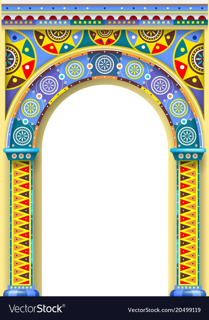 Bright color arch of the carousel vector image on