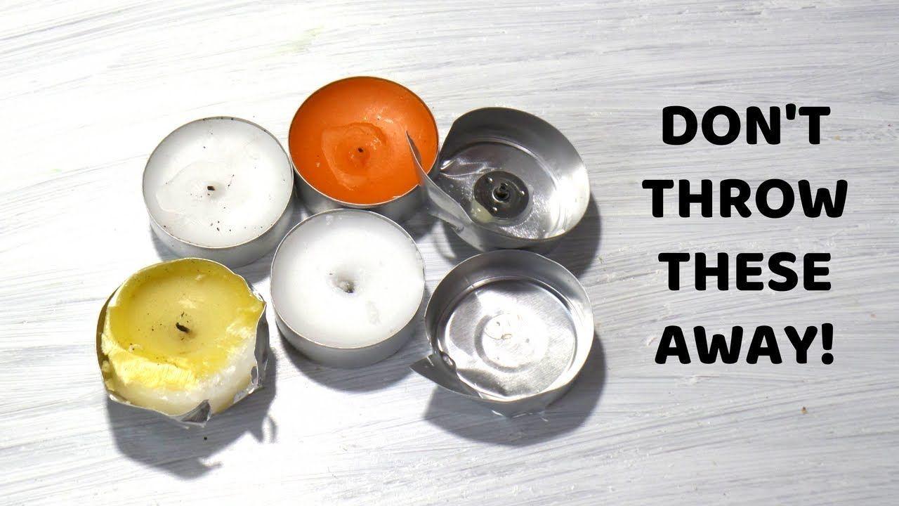 Empty tea light candle crafts diy aluminium tin cups
