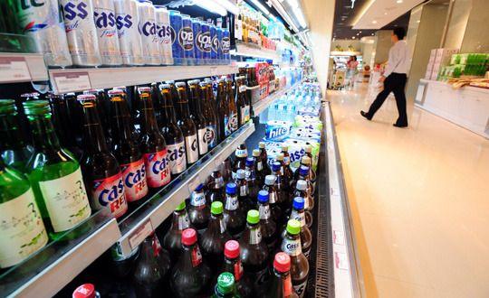 페트병 대용량 맥주가 더 싸다는 소문 ⇨ 거짓이다. 병맥주가 제일 싸다