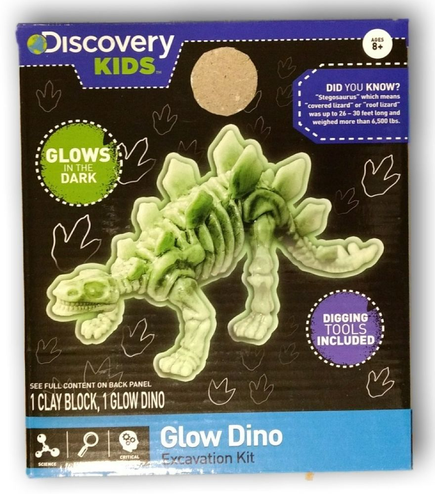 bd224b6f5 Discovery Kids Glow Dino Excavation Kit Glow in the Dark Paleontology  Science #DiscoveryKids