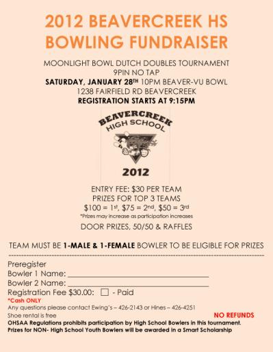 Bowling Fundraiser Flyer Template Bowling Pinterest