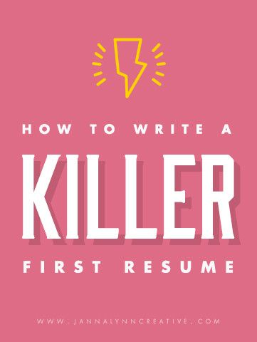 How to Write a Killer First Resume - Feminine \ Professional - how to write the word resume