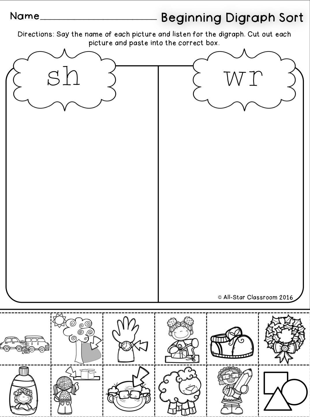 Beginning Digraphs Picture Sorts With Images